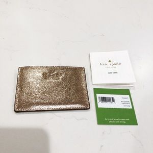 NEW Kate Spade Gold Card Holder
